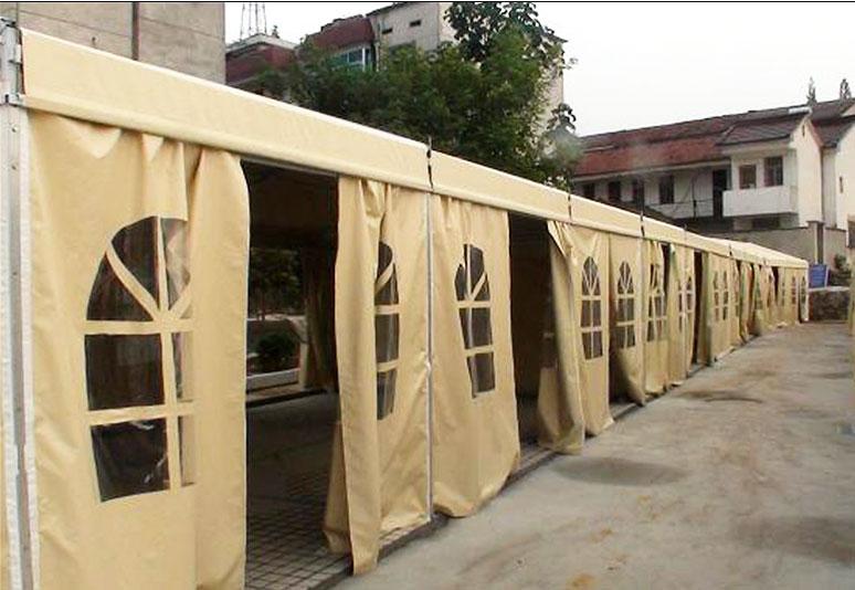 Steel aluminum tent