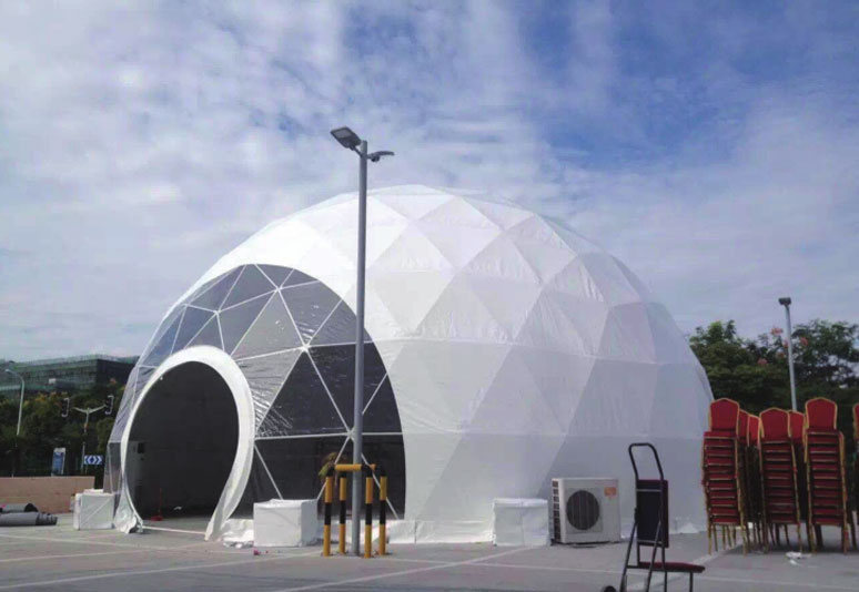 Hemispherical tent
