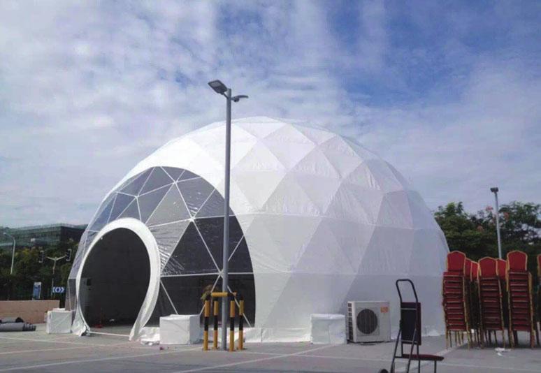 Hemispherical tent