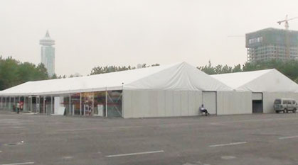 2010 more than 3000 square meters of steel and aluminum tents at the Japanese pavilion in World Expo