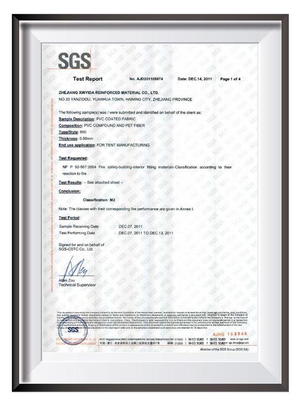 PVC SGS