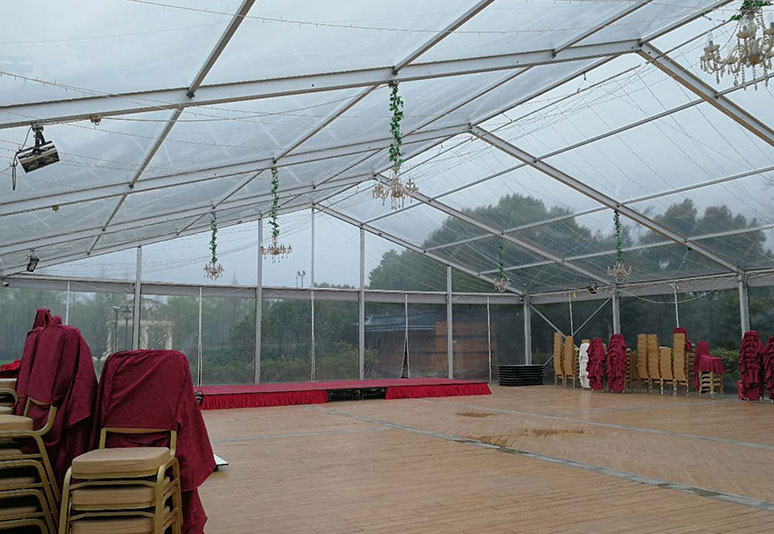 2016 Jiaxing 20x25m span transparent tent